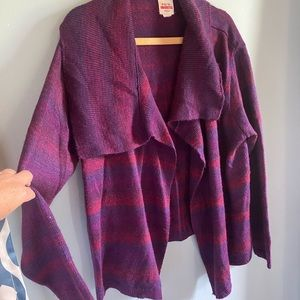 Purple and red sweater